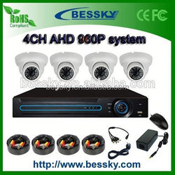 AHD DVR KIT 4CH H.264 DVR AHD P2P 960P AHD Surveillance System tracked off road kit