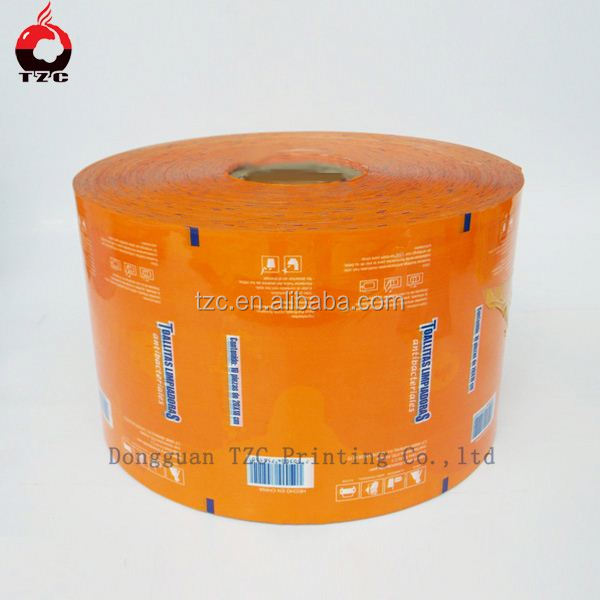 Custom barrier plastic Laminated baby diapers film roll