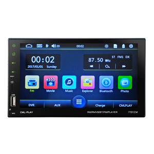 "Autoradio 2 Din 7"" HD Touch Screen Car Auto Multimedia Player Bluetooth Radio+Mirror Link+USB Charger Support Rear View Camera"