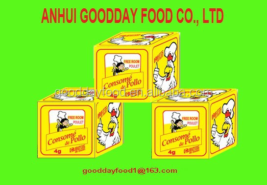 Hot sell in nigeria 4g*25bags*80 bags Halal Muslim poulet chicken cube de bouillon