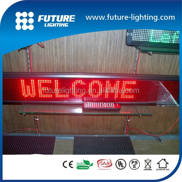 led display manufacturer promotion 16*96dots P7.62 LED electronic display screen led message adversting sign for car
