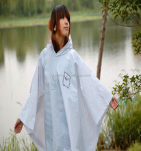 Cute hot sale recyclable EVA emergency plastic rain poncho for women