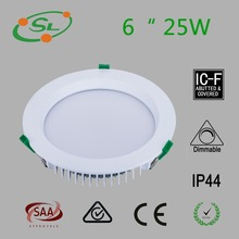6 inch 25w dimmable 150 - 170mm cutout die - cast Al recessed lighting led downlight led saa approved driver