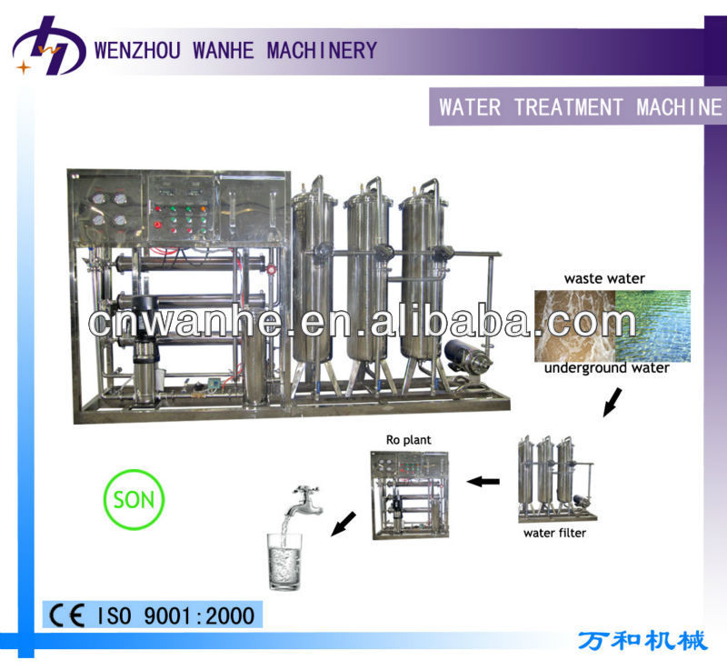 RO-1000 water treatment for fish pond