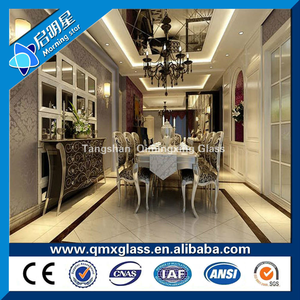 mirror glass wholesale Aluminium and silver mirror glass