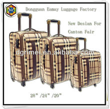 2012 New Design Jacquard Fabric USA Market Trolley Case