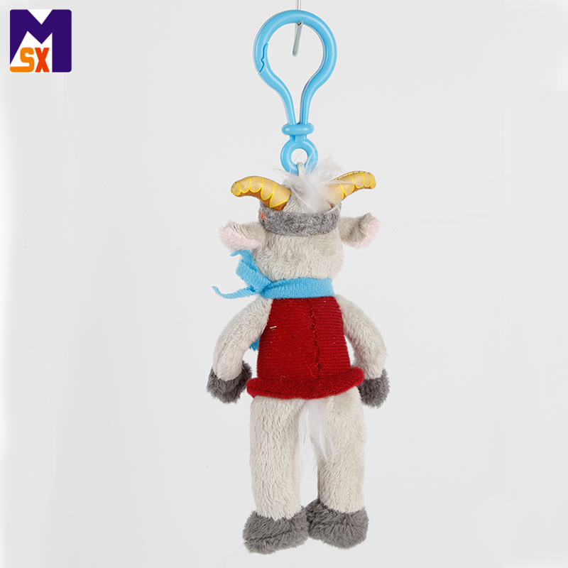 High quality plush keychain custom plush goat keychain