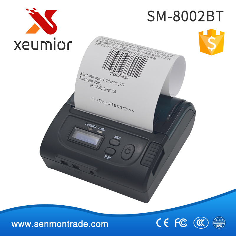 SM-8002BT: New design 3 inch portable android bluetooth printer with led display