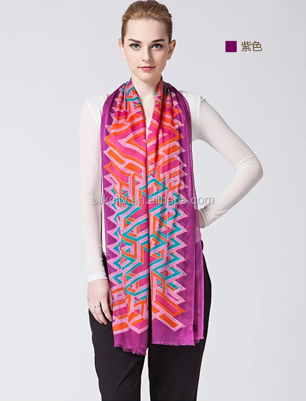 Digital Printing No MOQ Silk Satin Custom Long Scarf