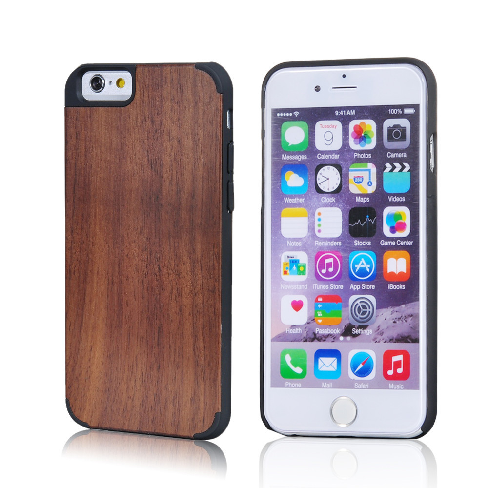 China supplier wholesale bamboo engraved blank wood case for iphone 6