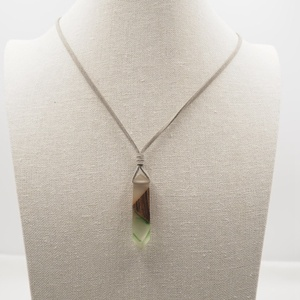 Fashion Custom Design irregular shape pendant wood resin necklace