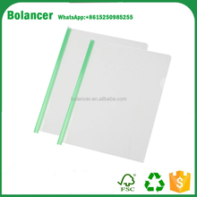 A4 Office Clear Sliding Green Bar Report Document File Folder Cover