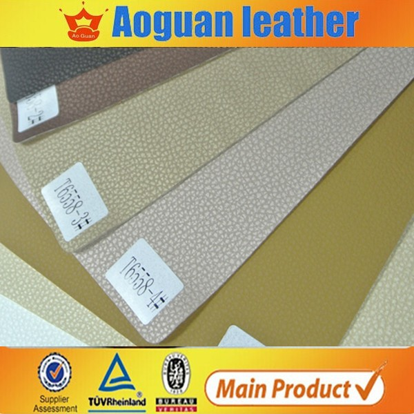 very good quality car seat leather and sofa leather for UK and USA market leather pvc car T6558