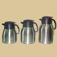 1.5l/2l European Style Double Walled Stainless Steel Vacuum Coffee Pot With Handle/vacuum Flask Coffee Pot