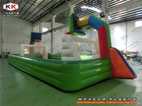 inflatable Sport games Inflatable soap football and basketball field new design