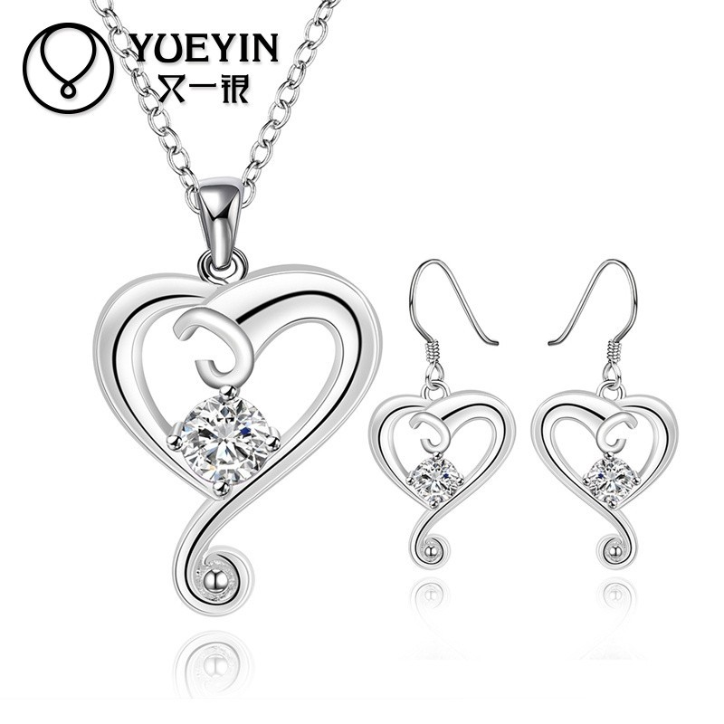 Elegant Heart Shaped White Zircon <strong>Accessories</strong> For Jewelry Wholesale China