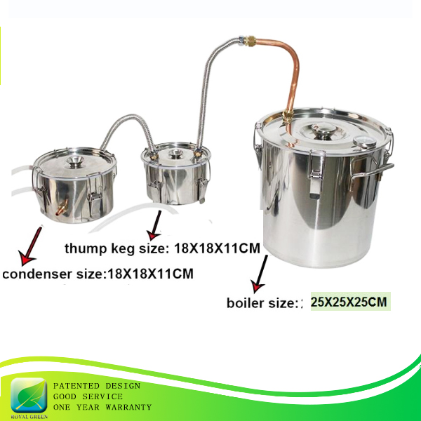 10L/3Gal home alcohol distiller stainless steel moonshine still wine making equipment with thump keg