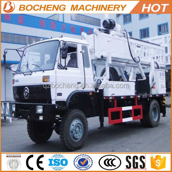 Multifunctional Truck Mounted Water Well Drilling Rig 150m