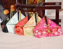 wholesale national pattern silk coin purse fabric purse