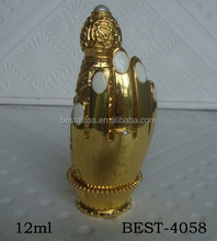 12ml gold fancy design bottle perfume for famous brand perfume