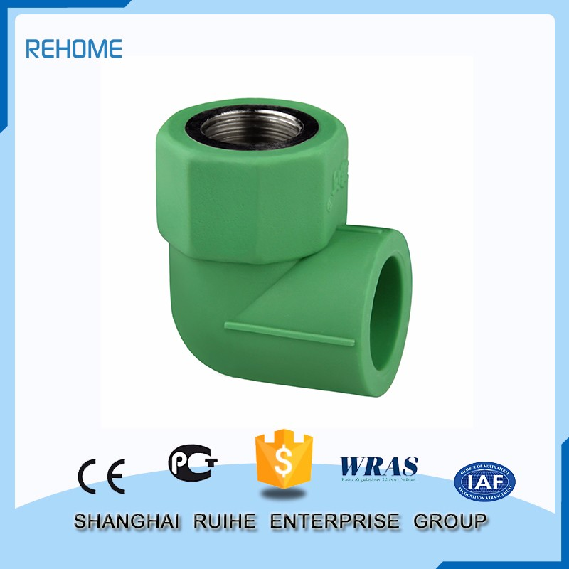 Various styles Fashionable patterns elbow pipe female thread ppr fitting 90 degree