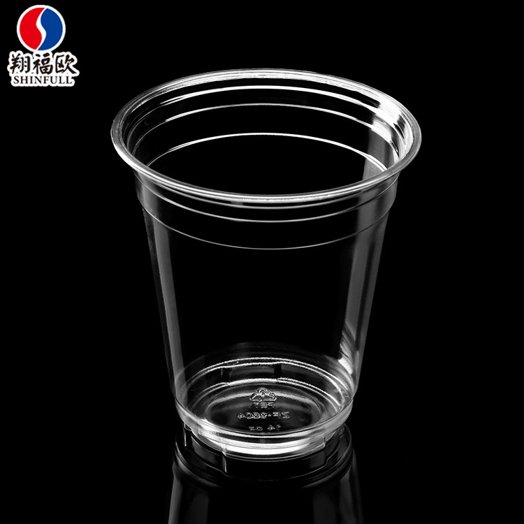 Superior quality disposable PET plastic cup plastic parfait cups for desserts drinking cups with straws