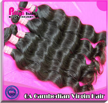 Guangdong Patiya production factory sale promotion goddess remi hair,cambodian hight quality jazz wave remy hair