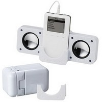 Clearance sale White Portable Mini Foldable Speaker for Mobile phone iPod MP3 MP4