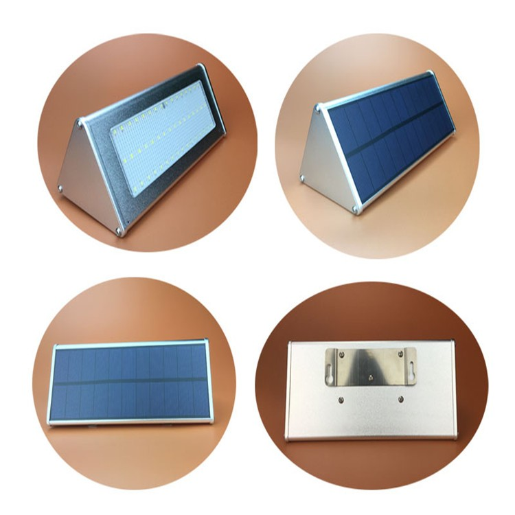 6.6w solar led lights for crafts,small solar led wall light with aluminum shell