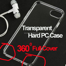 High clear transparent 360 degree full cover hard pc mobile phone case for iphone 6 hard case for iphone 6 plus