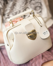 2015 new on-line fashion leather handbags with studs woman's hand bag