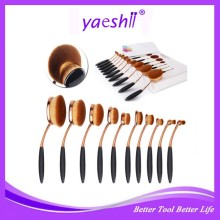Yaeshii 10pcs Toothbrush Oval MakeUp Brushes foundation Powder Set Brushes Cosmetic