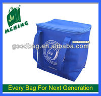 Blue non woven cooler bag for food 2013