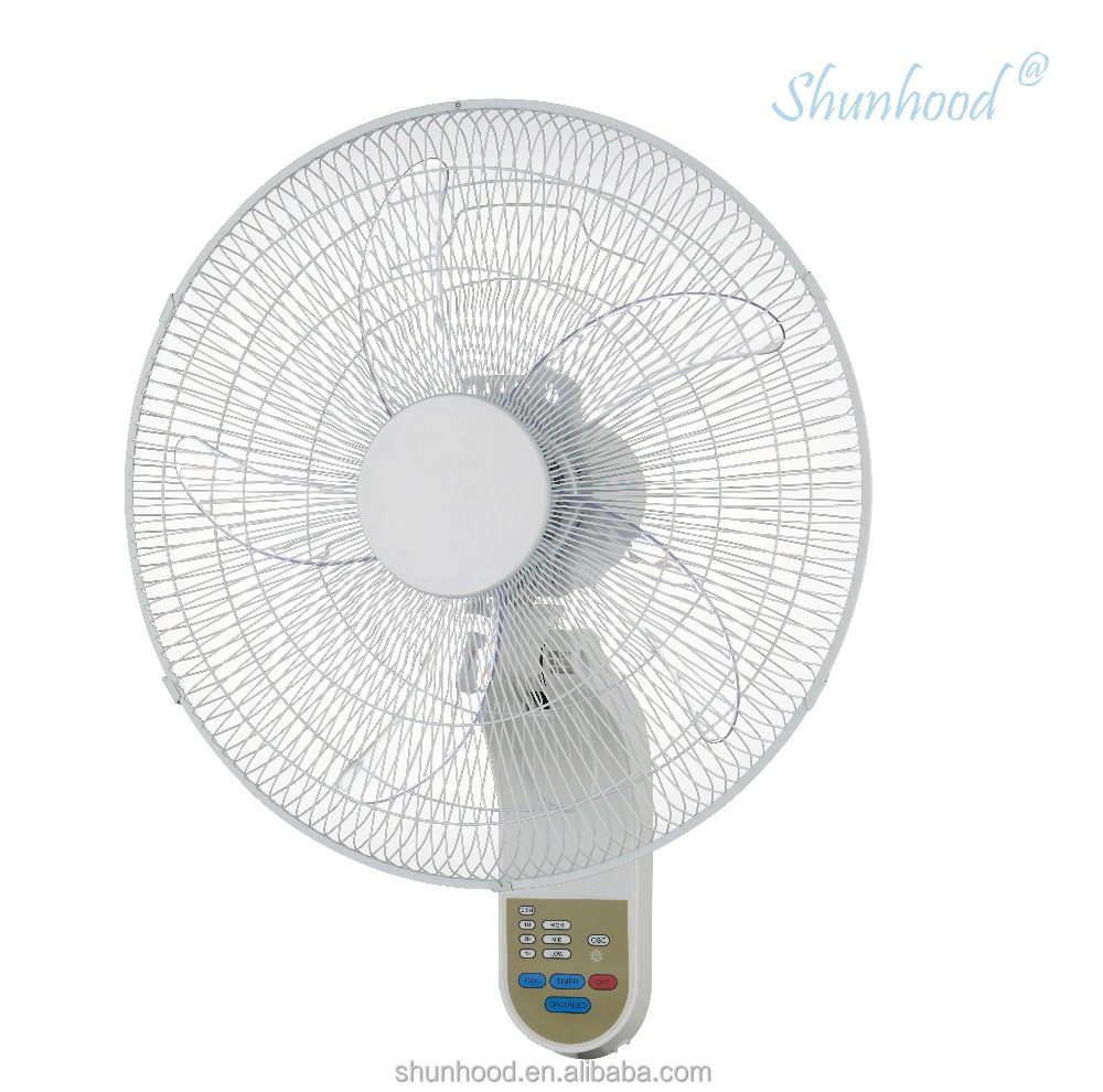 18 Inch (45cm) Electric Wall Fan with Remote Control, Timer, LED lights and 5 Blades [EF9-1F-45R]