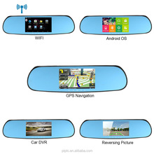Android Car Rear Mirror DVR Tachograph with GPS Navigation