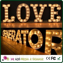 festival distressed light Led Backlit Letter Logo
