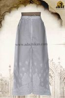 LUCKNOW CHIKAN COTTON CHURIDAR A73013 BY ADA