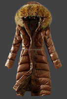 New Collection High Quality Women Fashion Down Coat With Fur Collar