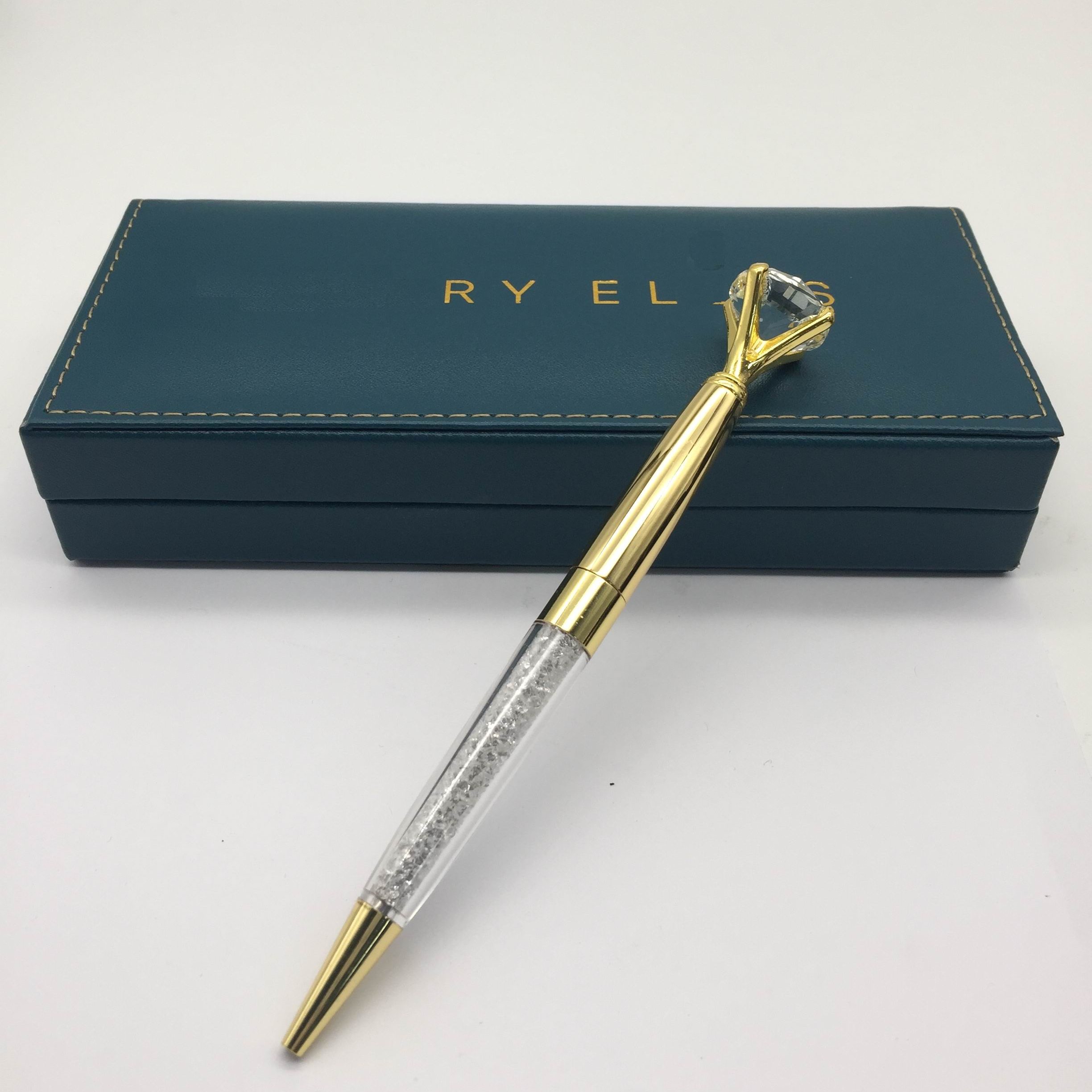 Diamond pen rose gold crystal pen metal pen <strong>promotion</strong> with box