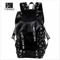 Outdoor sports backpack bags custom big canvas bag with many pockets