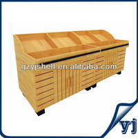 2015 Retail Store Wood Display Shelf, Food Display Counter