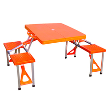 Outdoor Folding Portable ABS Plastic Picnic Table Durable and Reliable Advertising Umbrella