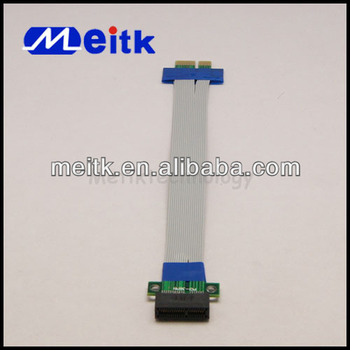 PCI-E 1X PCI Express Riser Card Extender Ribbon Flex Cable