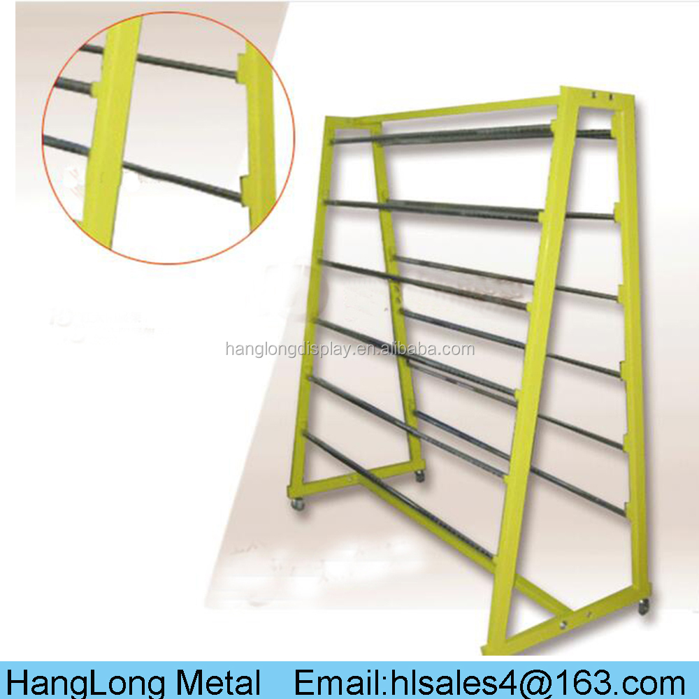 fashionable textile display rack/fabric roll display stands/cloth stands racks HL-L065