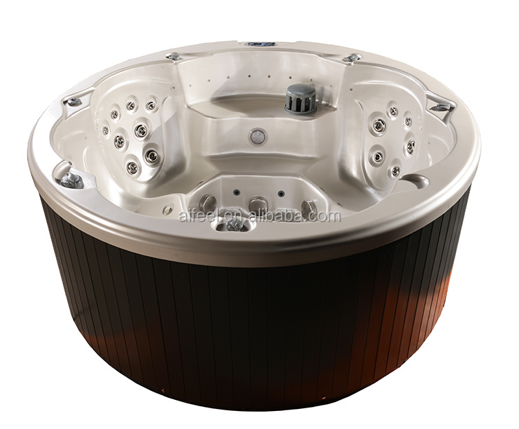 2019 new hot sell European style US balboa system luxury garden massage outdoor spa round bathtub whirlpool