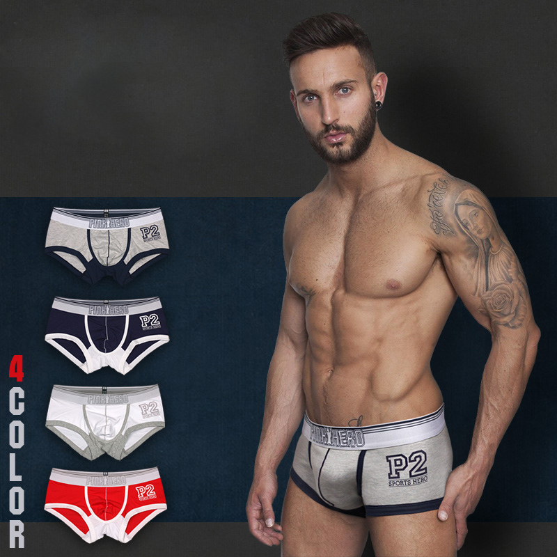 Wholesale cheap cotton Pink Hero boxers or briefs, white seamless briefs for sale