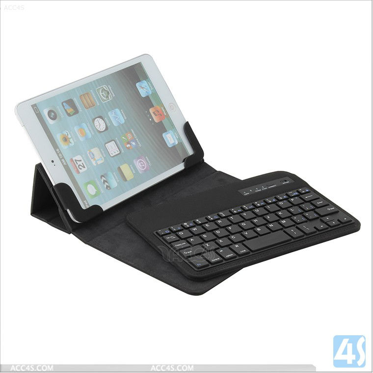 Universal Wireless Bluetooth Keyboard Leather Case with Four Folding for Tablet PC 7-8 inch P-UNI7TABKBCASE004