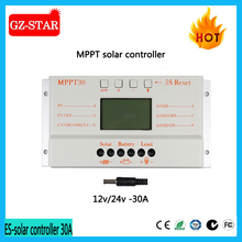 solar charge controller with 12v 24v 30A dc controller mppt intelligent pv solar power system regulator