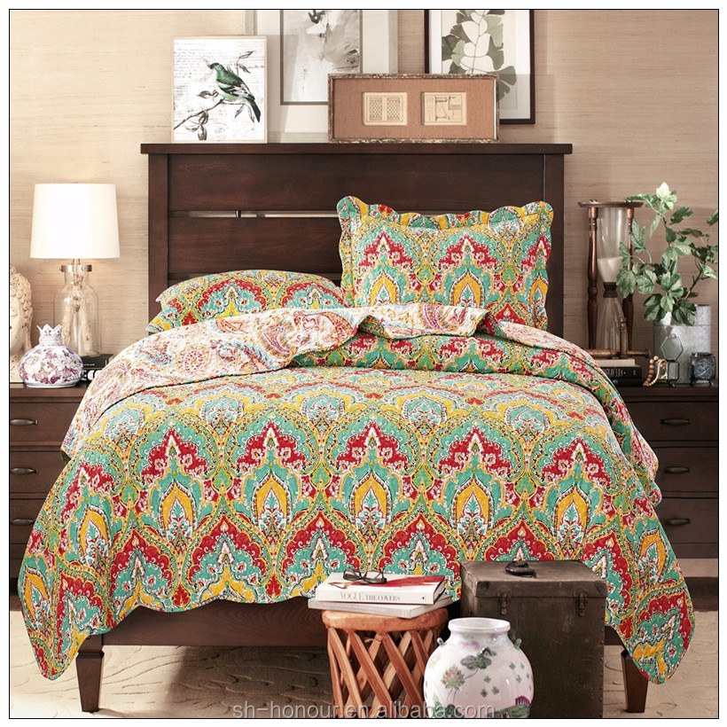 Wholesale home goods thin cotton bedspreads