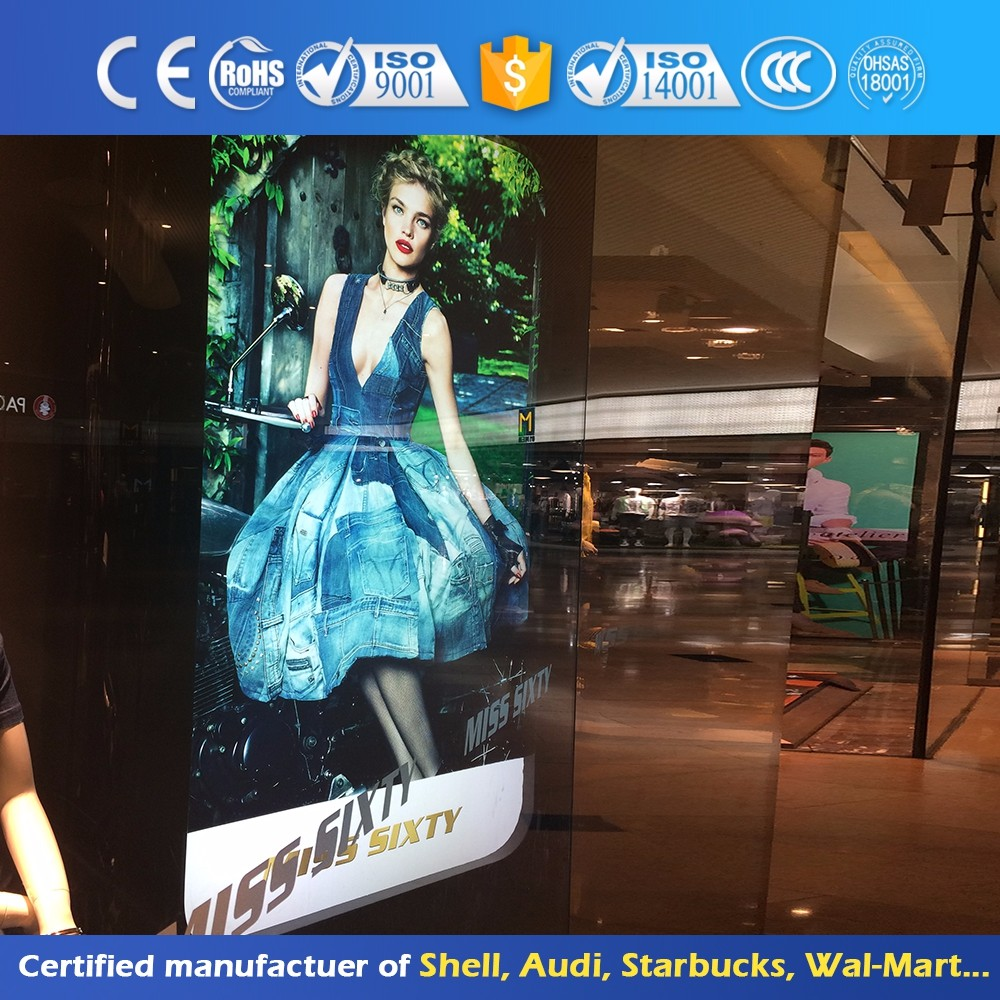 Aluminum Shopping Mall Advertising Light Box Poster Sign